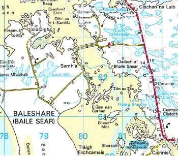 Baleshare Map