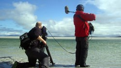 Tigress Productions filming 'Monty Halls Great Escape', Uist - Summer 2009